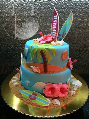 INSPIRED BY SUMMER Birthday Cake - Cake by Lily Vanilly