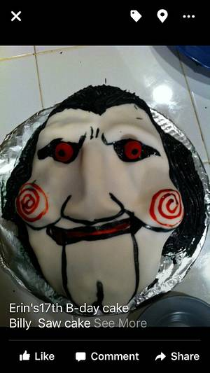 Billy from Saw birthday cake - Cake by Cakes by Crissy