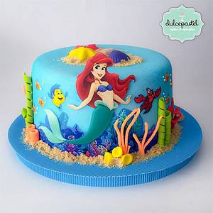 Torta Sirenita - The Little Mermaid Cake - Cake by Dulcepastel.com