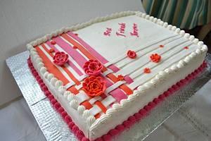 Vibrant orange - Cake by Sheela