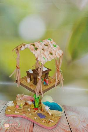 Fantasy Undersea Spa :  Cakerbuddies Miniature  Doll House Collaboration - Cake by PralineDesignercakes