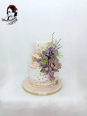 Purple&Gold Wedding - Cake by Ivon