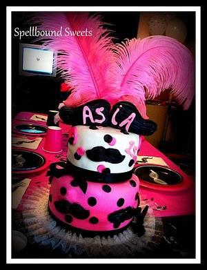 Girly Mustache Cake - Cake by Bethanny Jo