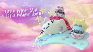 Little Pween Stars & Super Pusheenicorn Cake Topper - Cake by Sugar Snake Cake