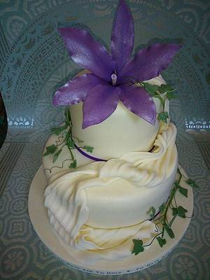Lily Wedding Cake - Cake by Helen C of Colliwobble Cakes