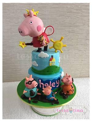 Peppa  Pig Cake - Cake by tessatinacakes