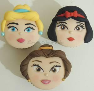 Princess Faces Cupcakes - Cake by Shereen