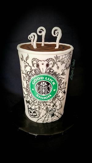 Halloween Starbucks Cake - Cake by Brittani Diehl