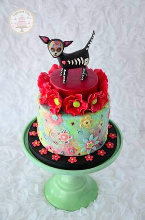 Chihuahua - Sugar Skulls 2015 - Cake by Sugarpatch Cakes