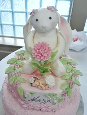 Bunny Cake - Cake by Lea's Sugar Flowers