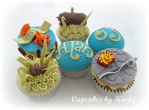 Fishing cupcakes  - Cake by Kirsty