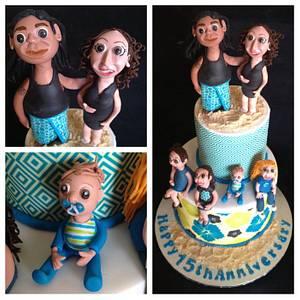 Samoan anniversary - Cake by Trickycakes