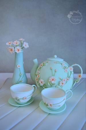 Tea set  - Cake by Audrey