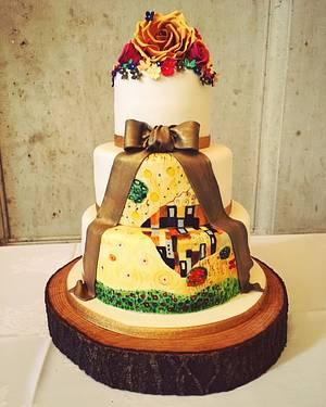Klimt 'The Kiss' wedding cake  - Cake by Samantha Tempest