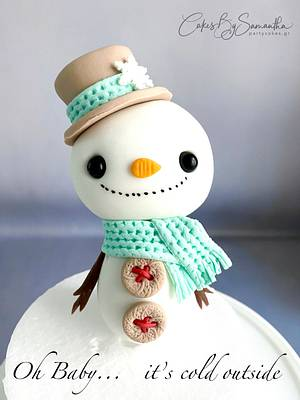 Oh baby It's Cold Outside  - Cake by Cakes By Samantha (Greece)