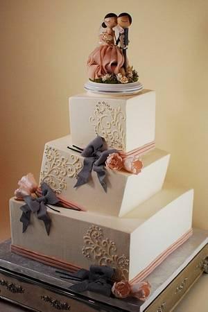 Wonky Wedding Cake - Cake by Jenniffer White