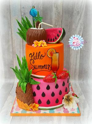 Hello summer cake - Cake by Sam & Nel's Taarten