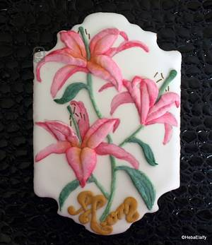 Pink Lilies for Mom. - Cake by Sweet Dreams by Heba