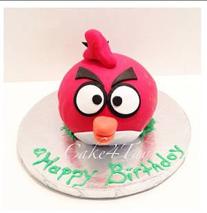 Angry Bird - Cake by Angel Chang
