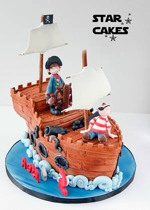 Pirate Ship cake - Cake by Star Cakes