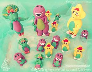 Barney and friends figurines - Cake by BunnyBlossom