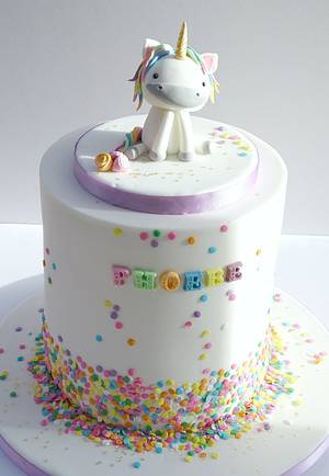 Unicorn First Birthday - Cake by The Rosehip Bakery