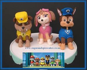 Paw Patrol - Rubble, Skye & Chase - Cake by Mel_SugarandSpiceCakes