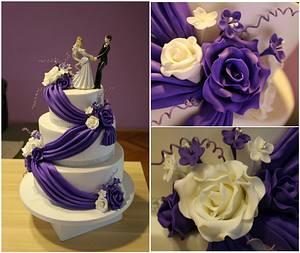 Purple wedding cake - Cake by Zaklina