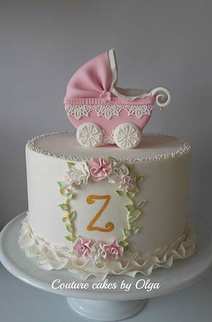 Christening cake - Cake by Couture cakes by Olga
