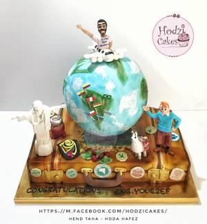 Travel Addict Cake✈️💙 - Cake by Hend Taha-HODZI CAKES
