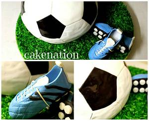 Soccer Ball and Boots - Cake by Cakenation