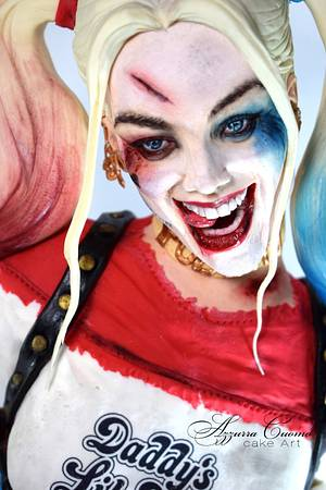 """Harley Quinn for """"Cake Con Collaboration"""" 2017 - Cake by Azzurra Cuomo Cake Art"""