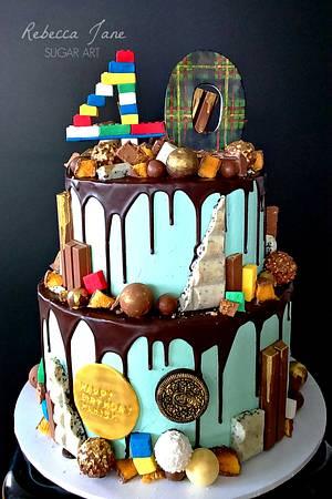 40th Birthday Chocolate Drip Cake - Cake by Rebecca Jane Sugar Art