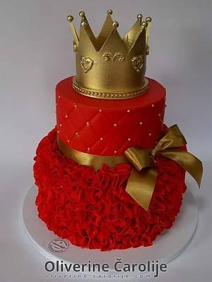 Red Cake for 18th birthday  - Cake by Oliverine Čarolije