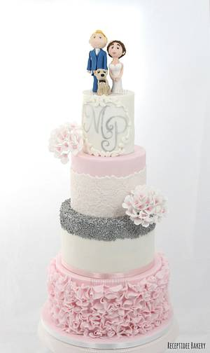 Pink and silver wedding cake - Cake by Sandra - Receptidee Bakery