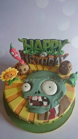 Plants vs zombies - Cake by Kokoro Cakes by Kyoko Grussu