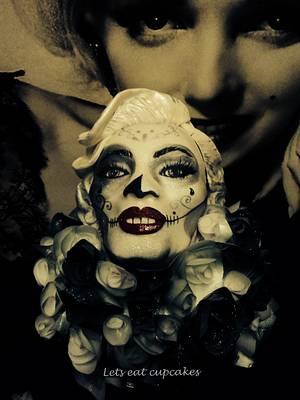 Dia de los muertos Marilyn monroe  - Cake by Allison Henry
