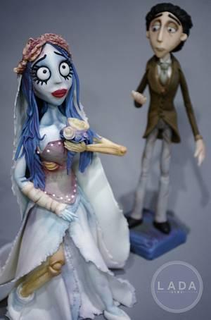Corpse Bride Sugar cake topper - Cake by Ladadesigns
