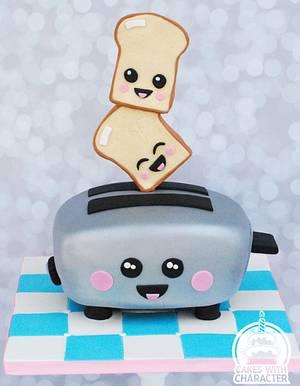 Kawaii toaster - Cake by Jean A. Schapowal