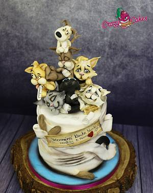 Pile of cats and dog - Cake by crazycakes