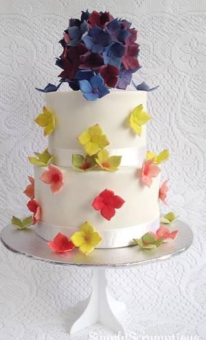 Hydrangea Bridal - Cake by SimplyScrumptious