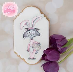 Grumpy Bunny Cat 🐰🐣 - Cake by Bobbie