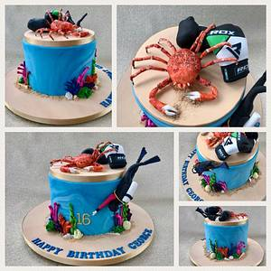 Under the sea with Boxing Gloves! - Cake by Canoodle Cake Company