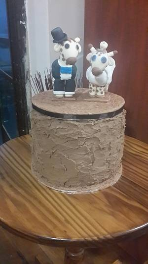 Rustic Lindt Chocolate Wedding Cake - Cake by Rencia's Creations
