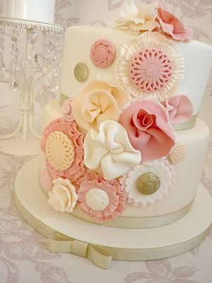 Ruffle flower birthday cake - Cake by Isabelle Bambridge