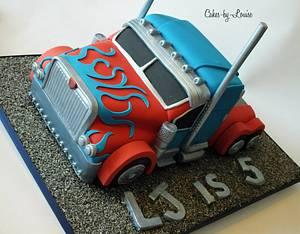Optimus Prime Cake - Cake by Louise Jackson Cake Design