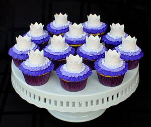 Ombre Ruffle Princess Cupcakes  - Cake by Cuteology Cakes