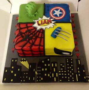 Marvel cake - Cake by Daisychain's Cakes
