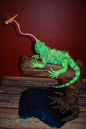 Edguardo the Iguana - Cake by Stacked