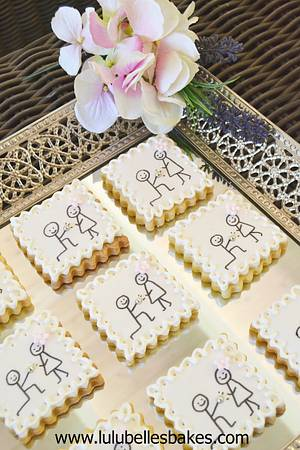 """""""I  do"""" engagement announcement cookies - Cake by Lulubelle's Bakes"""